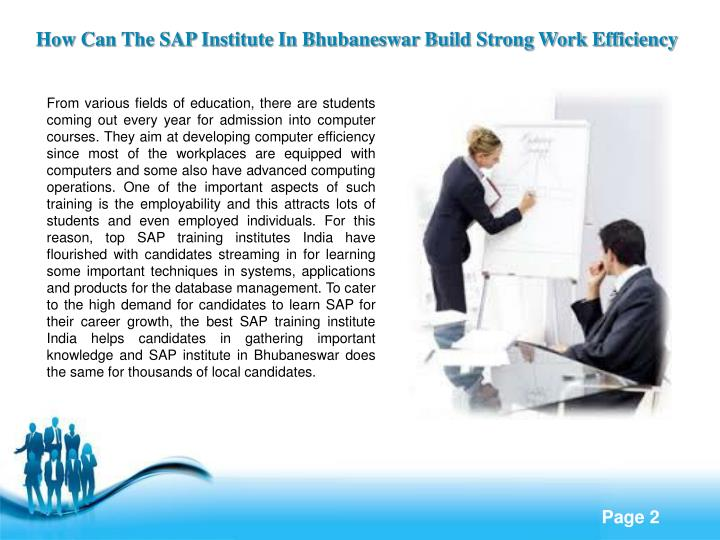 How Can The SAP Institute In Bhubaneswar Build Strong Work Efficiency