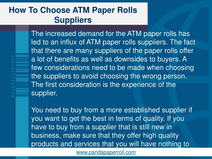 How to choose atm paper rolls suppliers2