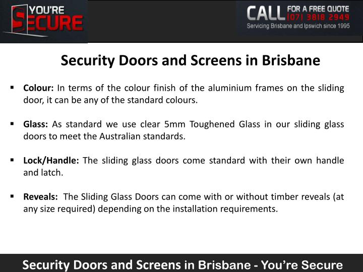 Security Doors and Screens in Brisbane