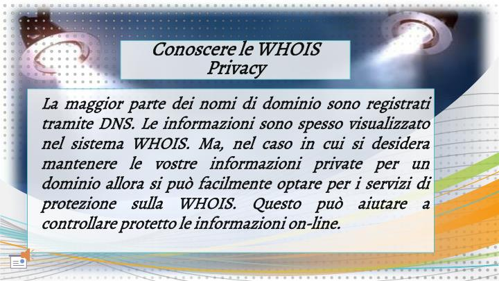 Conoscere le WHOIS Privacy