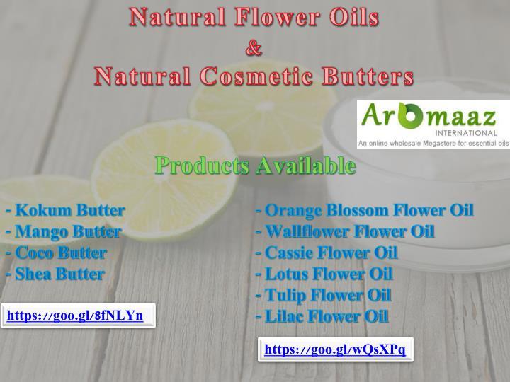 Natural Flower Oils