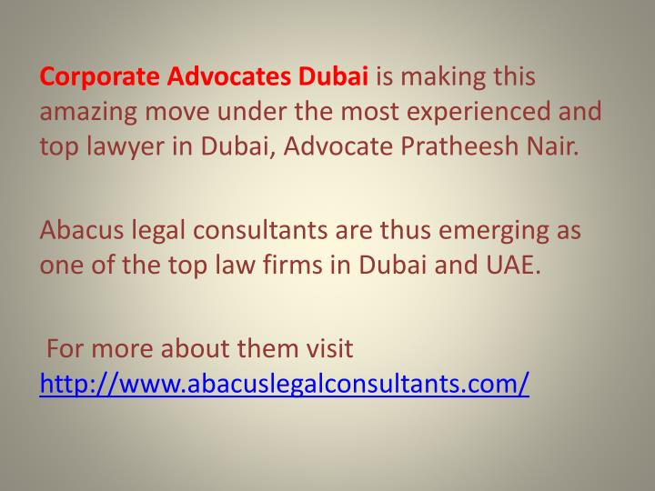 Corporate Advocates Dubai