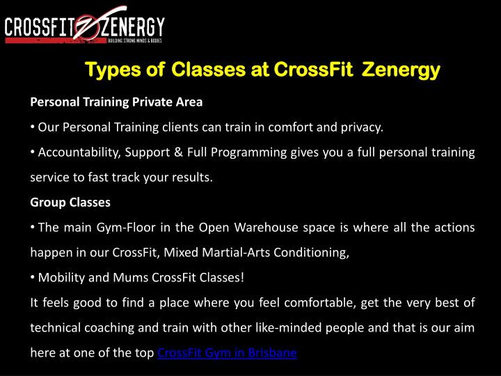 Types of Classes at CrossFit  Zenergy