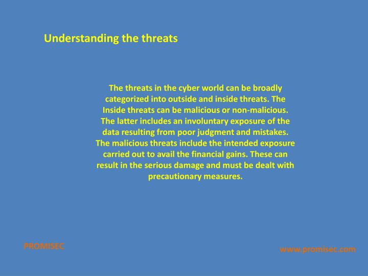 Understanding the threats
