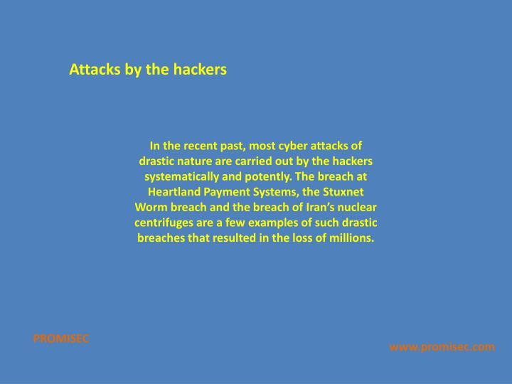 Attacks by the hackers