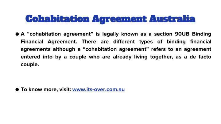 Cohabitation Agreement Australia