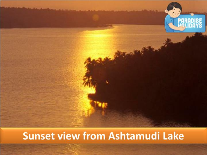Sunset view from