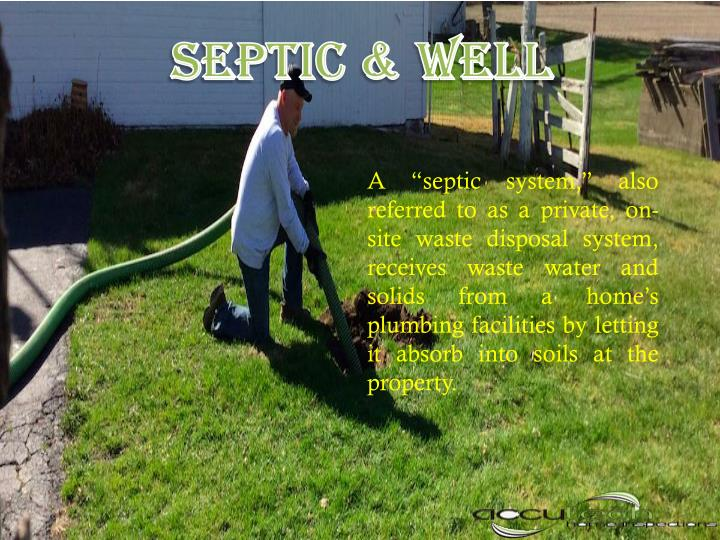 SEPTIC & WELL