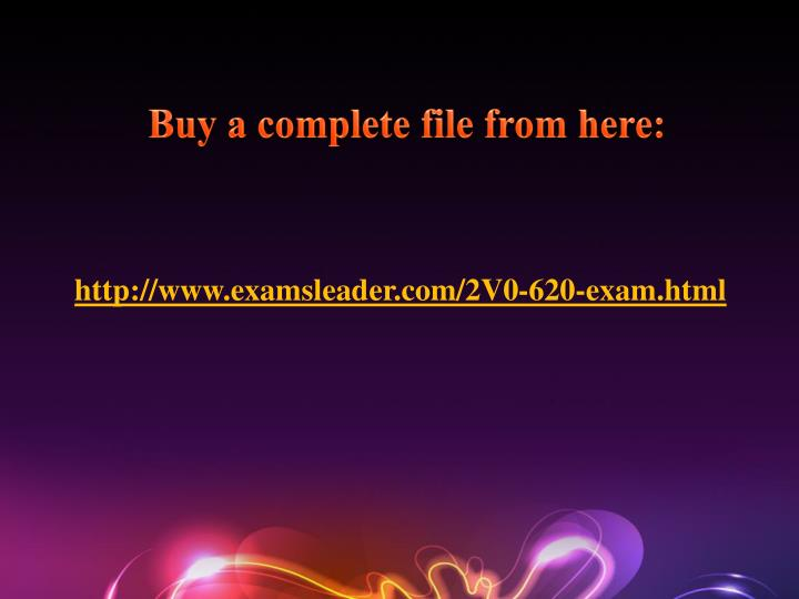 Buy a complete file from here: