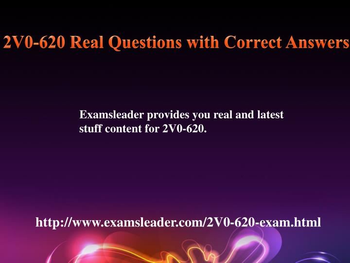 2V0-620 Real Questions with Correct Answers