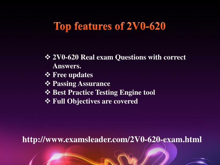 Top features of 2V0-620