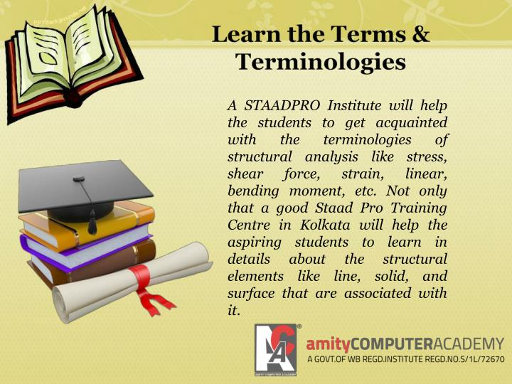Learn the Terms & Terminologies