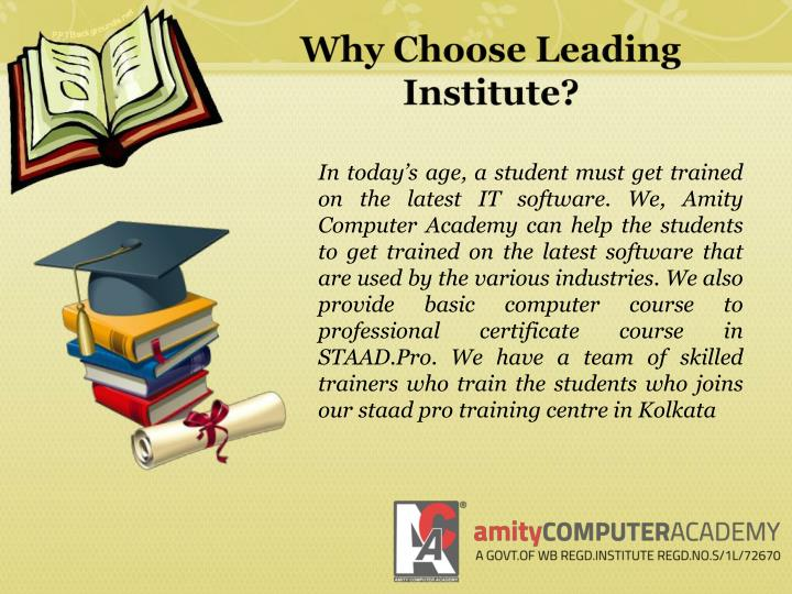 Why choose leading institute