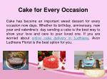 cake for every occasion