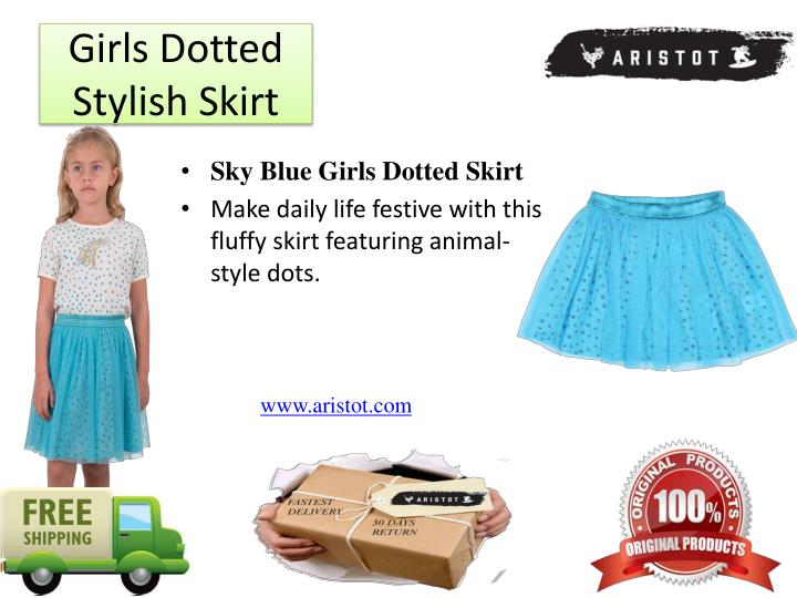 Girls Dotted Stylish Skirt