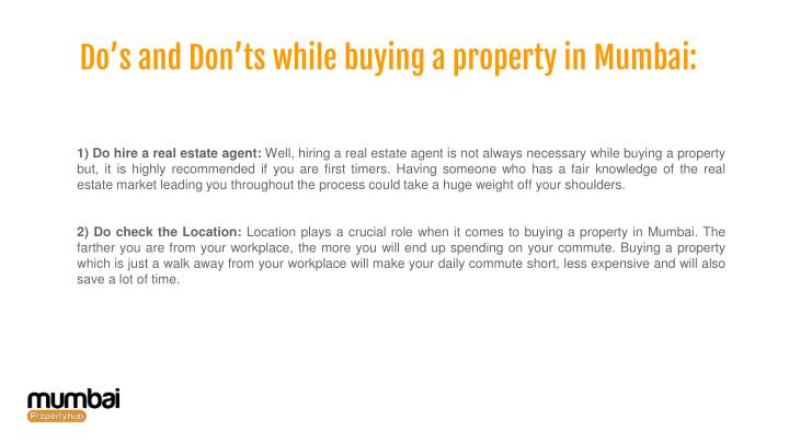 Do's and Don'ts while buying a property in Mumbai: