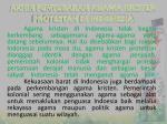 akhir penyebaran agama kristen protestan di indonesia