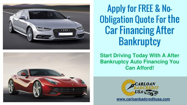 Apply for FREE & No-Obligation Quote For