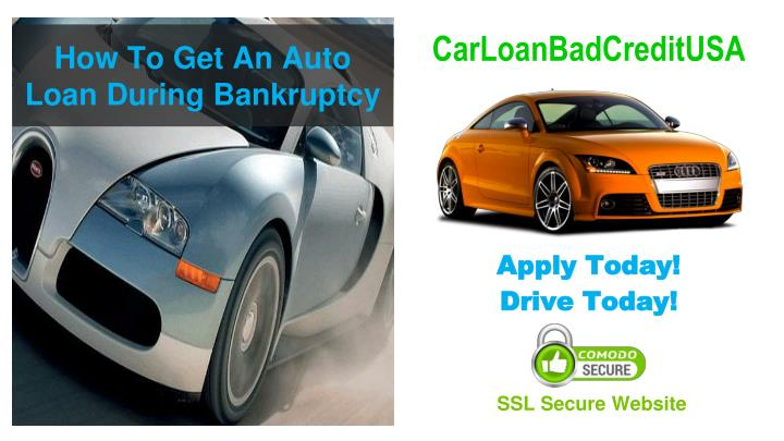 How To Get An Auto Loan During Bankruptcy