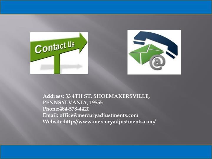 Address: 33 4TH ST, SHOEMAKERSVILLE,