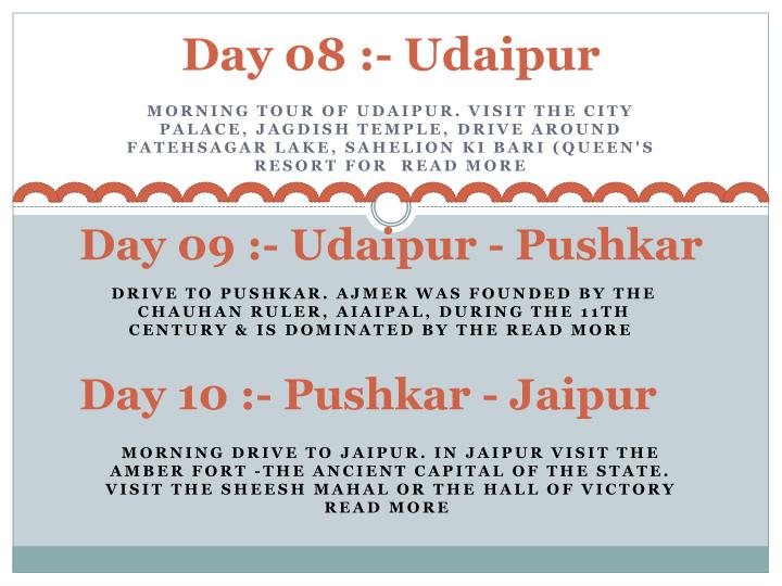 Day 08 :-Udaipur