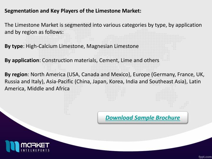 Segmentation and Key Players of the Limestone Market: