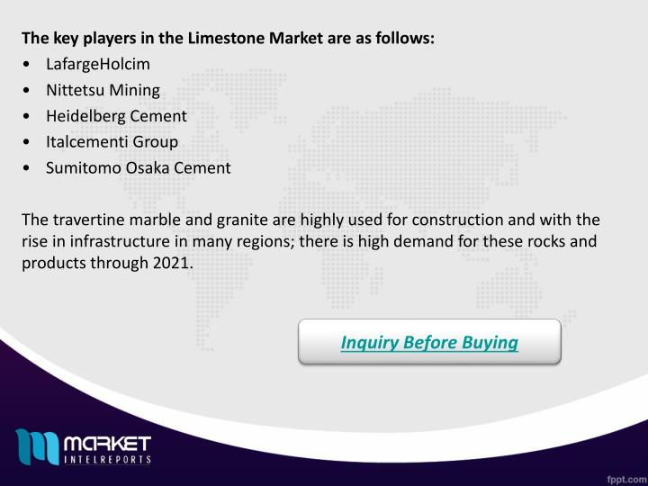 The key players in the Limestone Market are as follows: