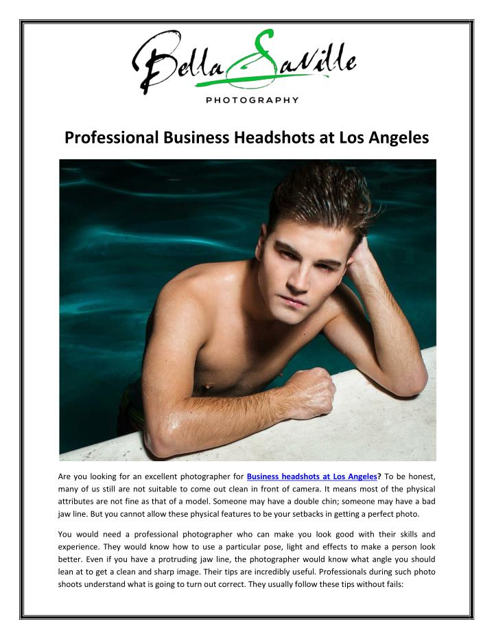 Professional Business Headshots at Los Angeles