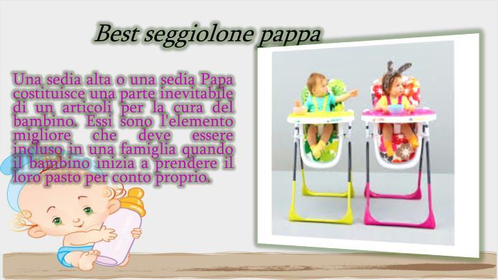 Best seggiolone pappa