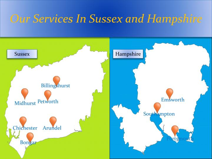 Our Services In Sussex and Hampshire