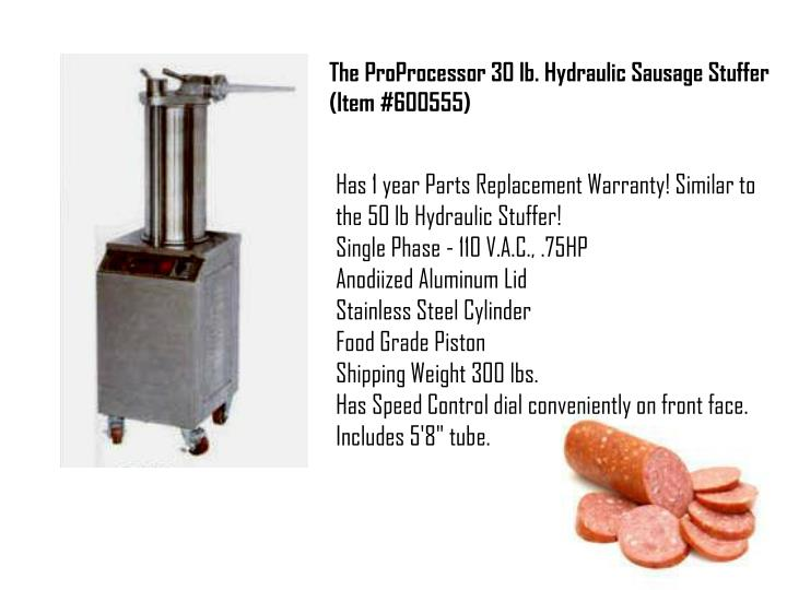 The ProProcessor 30 lb. Hydraulic Sausage Stuffer