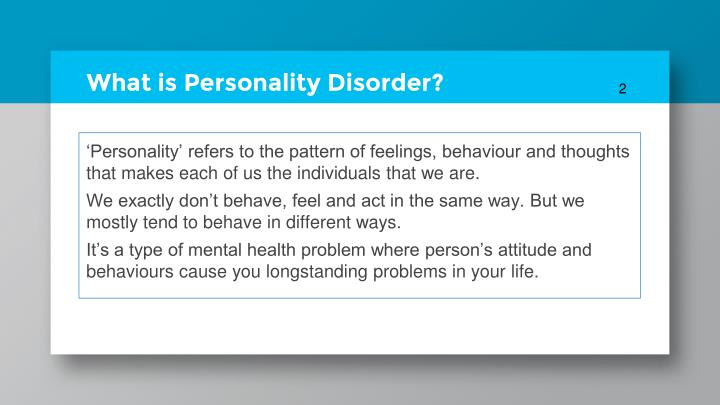 What is personality disorder