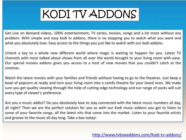 KODI TV ADDONS