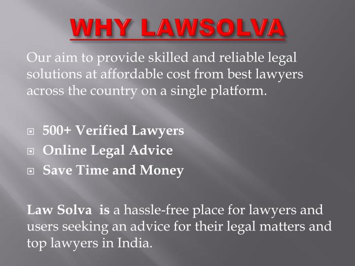 WHY LAWSOLVA