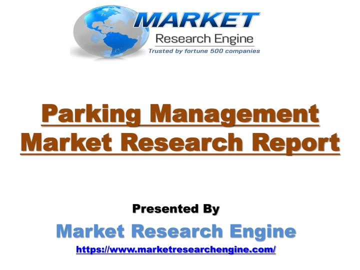 Parking management market research report