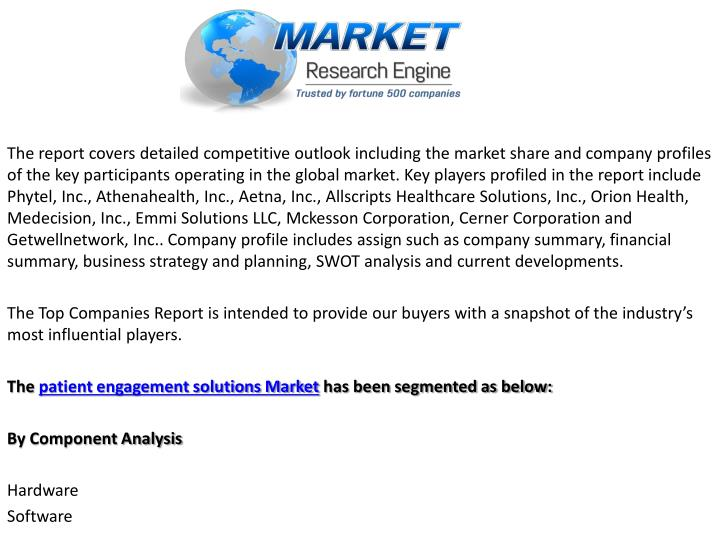 The report covers detailed competitive outlook including the market share and company profiles of the key participants operating in the global market. Key players profiled in the report include