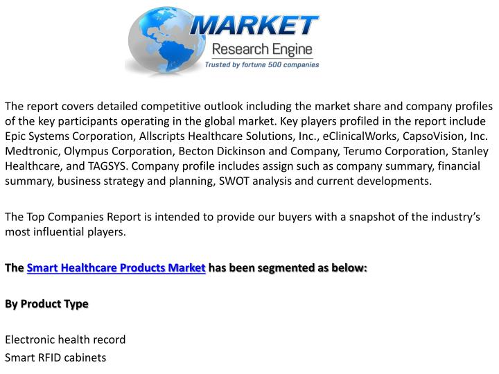 The report covers detailed competitive outlook including the market share and company profiles of the key participants operating in the global market. Key players profiled in the report include Epic Systems Corporation,