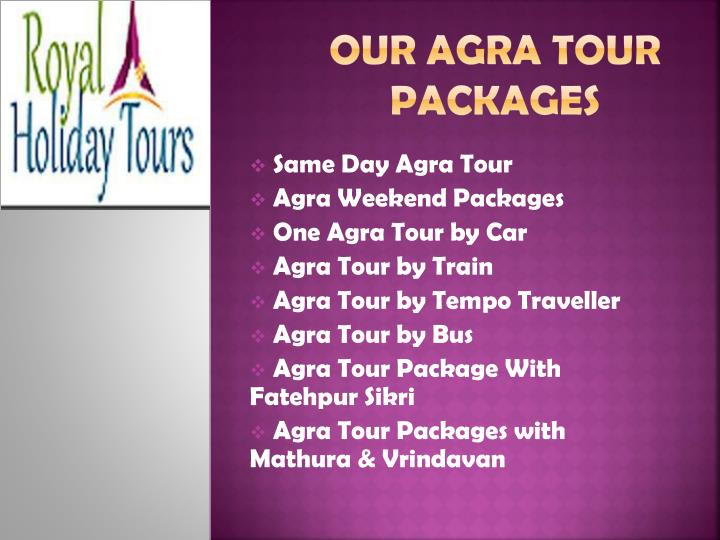 Our Agra tour Packages