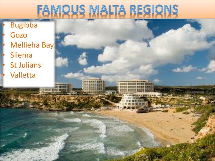 Famous Malta Regions
