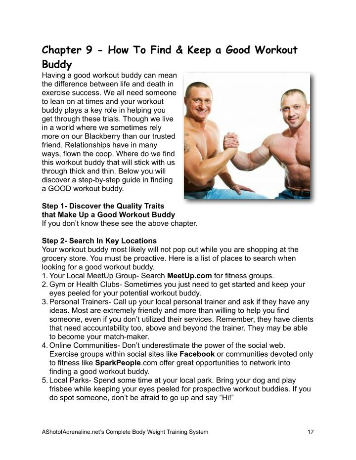 Chapter 9 - How To Find & Keep a Good Workout