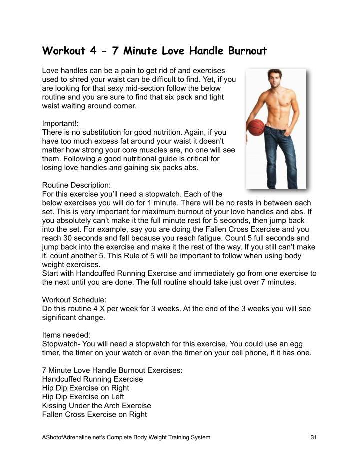 Workout 4 - 7 Minute Love Handle Burnout