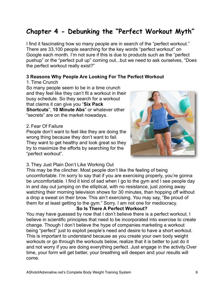 """Chapter 4 - Debunking the """"Perfect Workout Myth"""""""