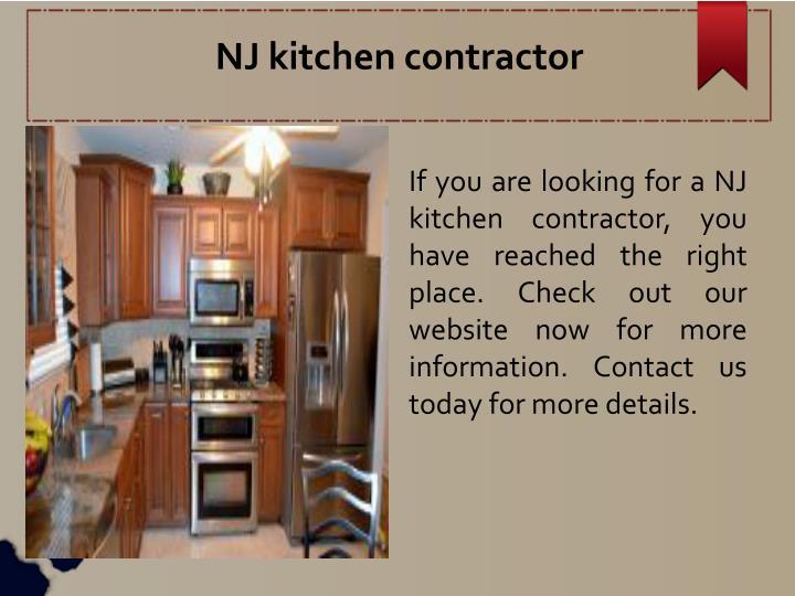 NJ kitchen contractor