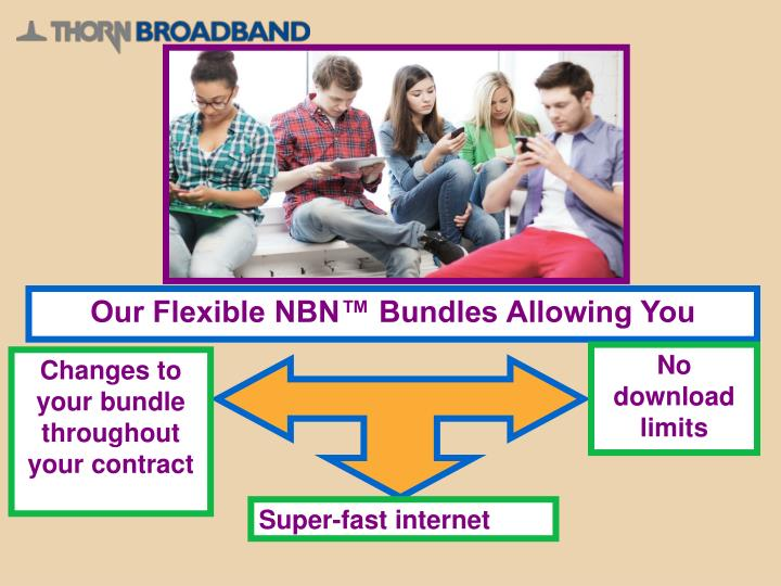 Our Flexible NBN™ Bundles Allowing You