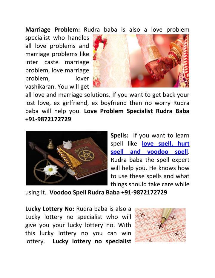 Marriage Problem: