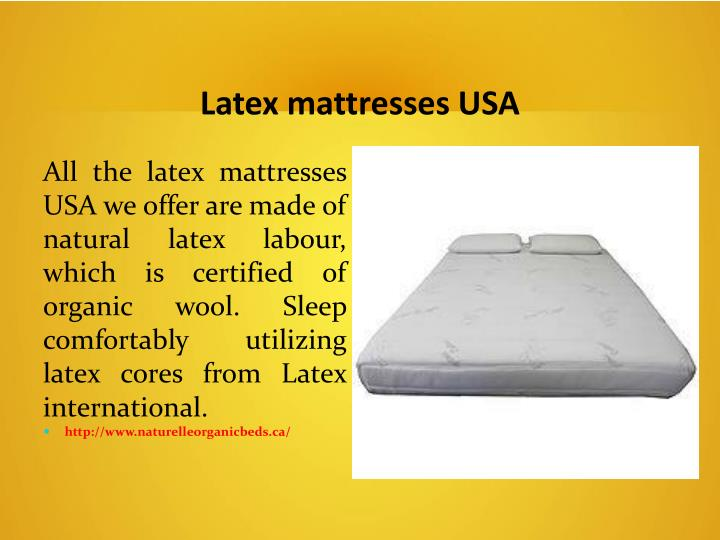 Latex mattresses USA