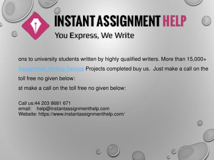 ons to university students written by highly qualified writers. More than 15,000+