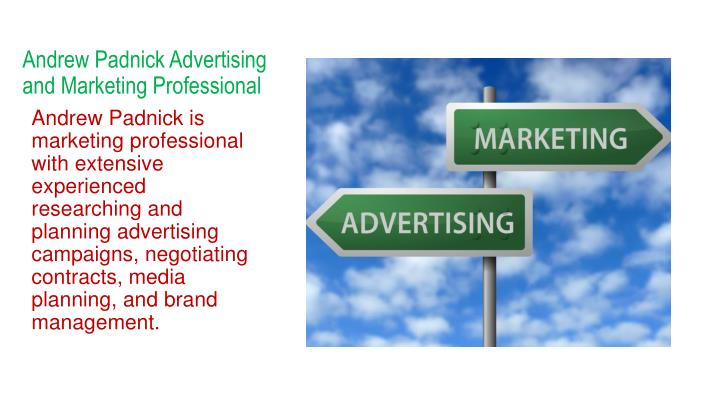 andrew padnick advertising and marketing professional
