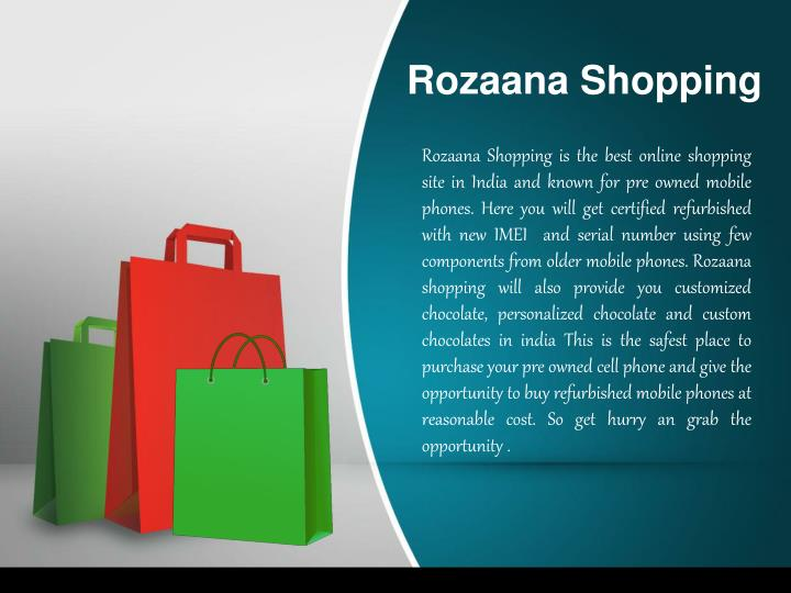 Rozaana shopping