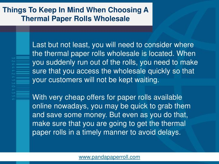 Things To Keep In Mind When Choosing A Thermal Paper Rolls Wholesale
